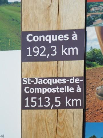 Chemin de Compostelle - direction Conques
